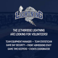 The Lethbridge Lightning are looking for Volunteers!