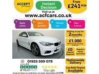 2015 WHITE BMW 420i 2.0 M SPORT PETROL AUTO 2DR COUPE CAR FINANCE FR £241 PCM