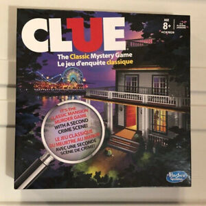 Clue Board Game, perfect condition, all pieces sealed / intact