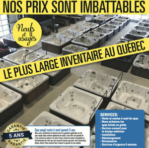 LIQUIDATION SPA ST-JEROME. 150+ MODELES EN STOCK