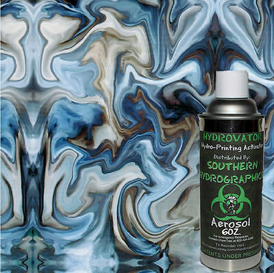 Hydrographic Film Water Transfer Hydro Dip 6oz Activator With Blue Oil Slick Kit