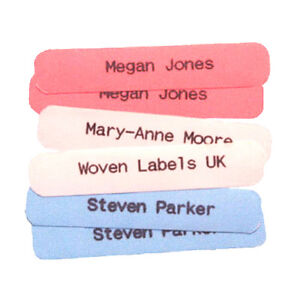 50 Original Hard wearing Printed iron-on School Name Tapes Name Tags Labels