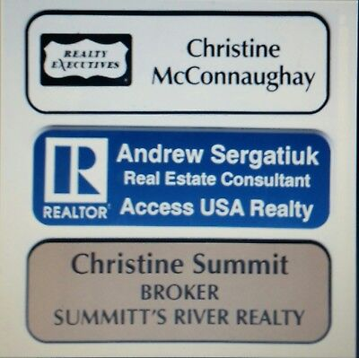 1x3 Employee Personalized Name Tag Badge With Magnet Back Sublimation