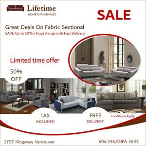 CLEARANCE SALE !!! FABRIC SOFAS AND SOFA BED STARTING AT $899