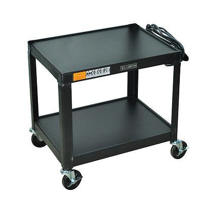 Luxor AV26 - Fixed Height Steel A/V Cart - Two Shelves, Black New