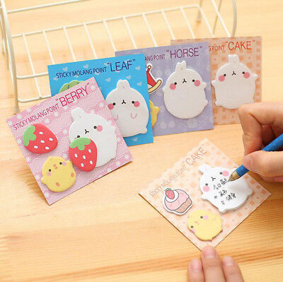 Cute Rabbit Sticker Post-it Bookmark Notepads Index Flag Sticky Notes Stationery