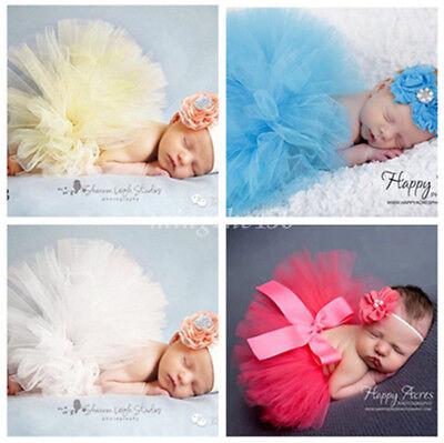 Tutu Skirts For Girls (Newborn Baby Photography Props Hairband + TUTU Skirts For Baby Girls Photo)