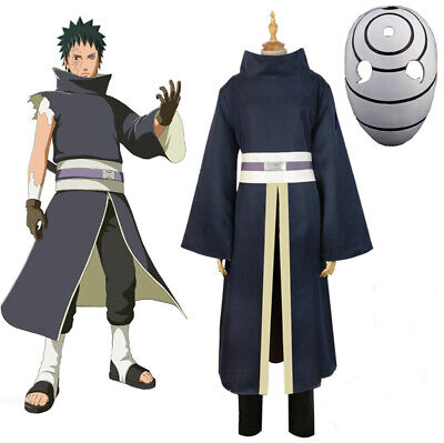 Japan Anime Uchiha Obito Madara Cosplay Costumes Suit Mask Halloween Men Gift