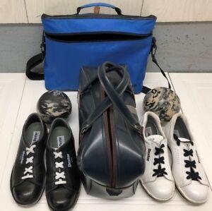 Ensemble de souliers et boules de quilles avec sacs de transport