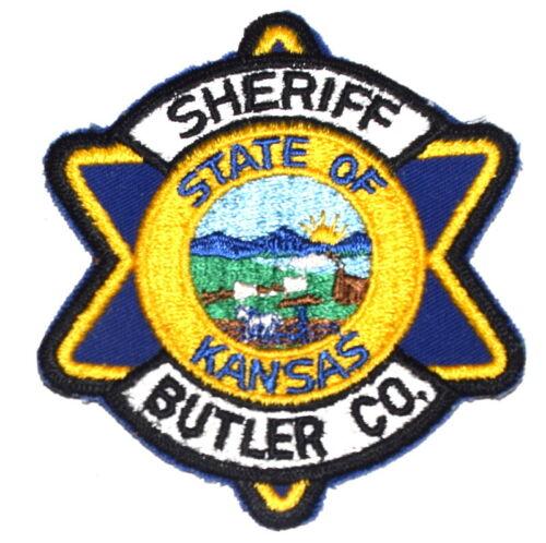 BUTLER COUNTY KANSAS KS Sheriff Police Patch SEAL STAR SHAPE VINTAGE OLD MESH