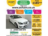 2014 WHITE MERCEDES C220 2.1 CDI AMG SPORT EDT PREMIUM + CAR FINANCE FR £185 PCM