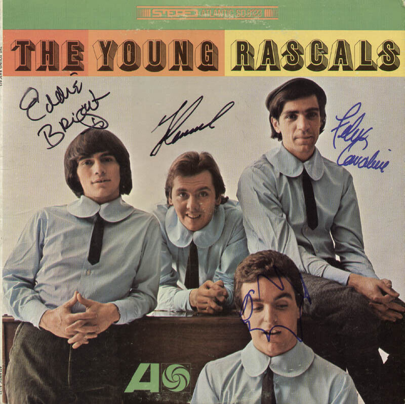 THE (YOUNG) RASCALS - RECORD COVER SIGNED WITH CO-SIGNERS