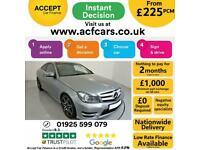 2013 SILVER MERCEDES C250 2.1 CDI AMG SPORT PLUS COUPE CAR FINANCE FR £225 PCM