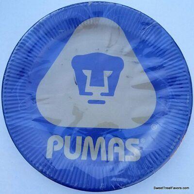 PUMAS CLUB UNIVERSIDAD Party Birthday Plates Soccer BOYS Decoration Supplies (Soccer Plates)