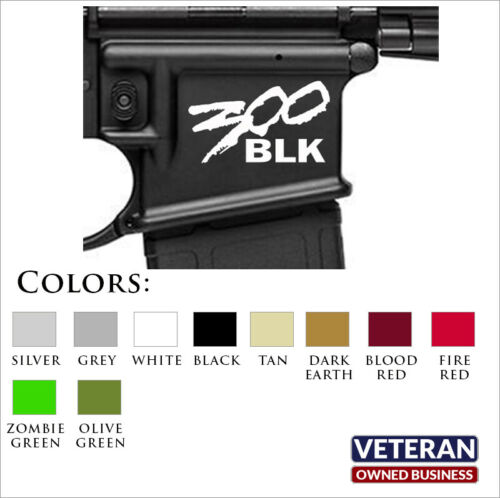 Lower Receiver ID Decal - All Calibers, Fits 350 Legend, 300 Blackout, 9mm, 7.62
