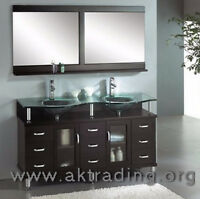 Double sink vanity. Ideal for master bathroom.