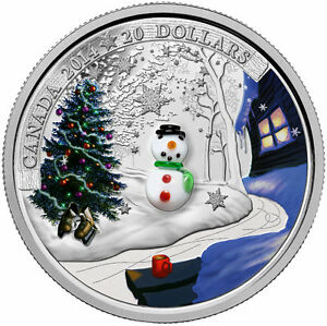 2014 $20 Pure Silver Coin - Glass Snowman - SALE SPECIAL!!