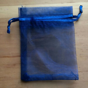 100 Navy Organza Bags - Brand New