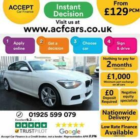 image for 2013 WHITE BMW 116D 2.0 M SPORT DIESEL MANUAL 3DR HATCH CAR FINANCE FR £129 PCM