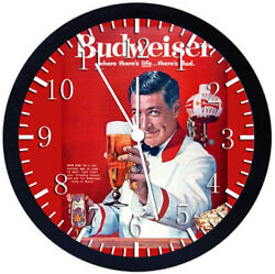 Old Fashion Beer Black Frame Wall Clock Nice For Decor or Gifts Z25