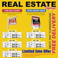 Real Estate Sign, For Sale, Open House, Sandwich Board PRINT