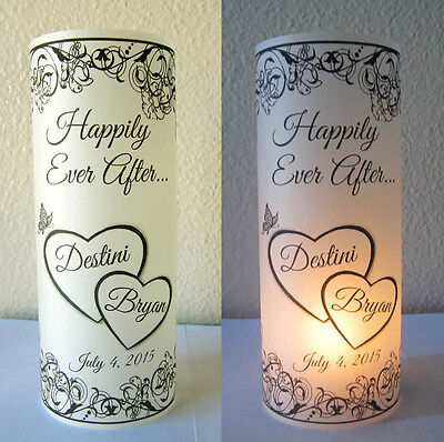 20 Personalized Wedding Centerpiece Luminaries Heart Table ...