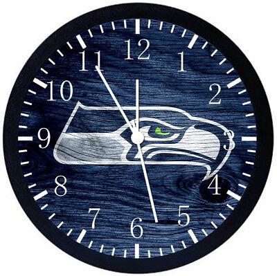 Настенные часы Seattle Seahawks Black Frame