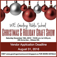 W.E. Gowling Christmas & Holiday Craft Show