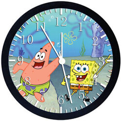 SpongeBob SquarePants Black Frame Wall Clock Nice For Decor or Gifts Z65