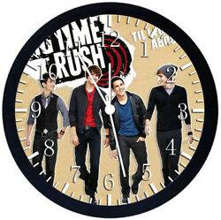 Big Time Rush Black Frame Wall Clock Nice For Decor or Gifts W378
