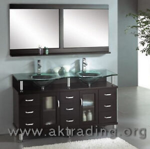 Double sink vanity. Ideal for master bathroom