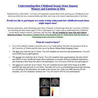 Memory and Emotion Study