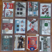 CARTES HOCKEY MINT ,JERSEY,PATCH,PUCK,STICK,PATIN ET REGULIER