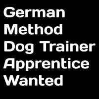 German Working Dog Style Dog Trainer Apprentice