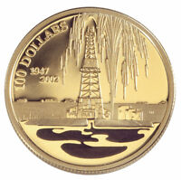 2002 Canada Solid Gold Colorized Coin - Oil & Petroleum Industry