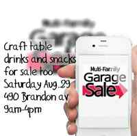 Multi-family garage and craft sale