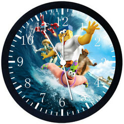 SpongeBob SquarePants Black Frame Wall Clock Nice For Decor or Gifts Z201
