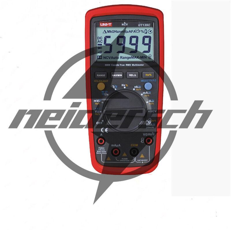 UNI-T UT139C True RMS LCD Digital Auto Range Multimeter AC/D