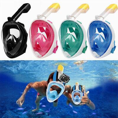 2019 New Version Full Face Diving Snorkel Mask Swimming Scuba Anti-Fog Kid Adult](Scuba Masks)