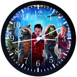 Guardians Of The Galaxy Black Frame Wall Clock Nice For Decor or Gifts E42