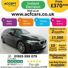image for 2018 BLACK BMW 530i 2.0 M SPORT PETROL AUTO SALOON CAR FINANCE FR £370 PCM