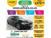 2018 BLACK BMW 530i 2.0 M SPORT PETROL AUTO SALOON CAR FINANCE FR £370 PCM