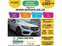 2016 WHITE MERCEDES C220D 2.1 AMG LINE DIESEL AUTO COUPE CAR FINANCE FR £305 PCM