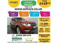 2014 RED RANGE ROVER SPORT 3.0 SDV6 HSE DIESEL AUTO CAR FINANCE FR £418 PCM