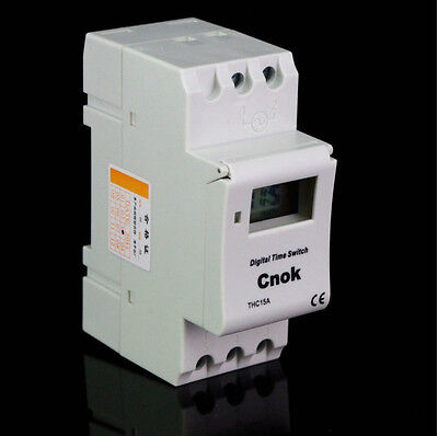 Din Rail Digital Programmable Timer 12v 16a Time Relay Lcd 1min-168hours
