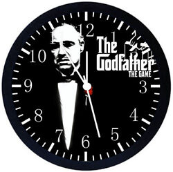 The Godfather Black Frame Wall Clock Nice For Decor or Gifts X48
