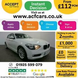 image for 2013 WHITE BMW 116D 1.6 EFFICIENT DYNAMICS 5DR HATCH CAR FINANCE FR £112 PCM