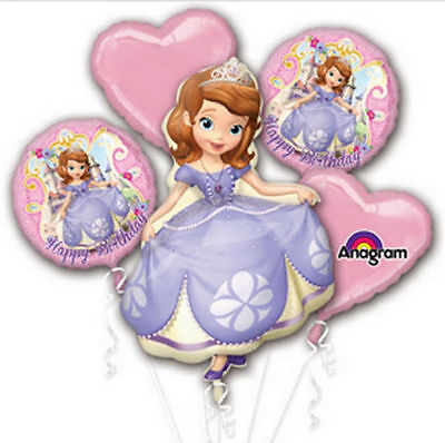 Sofia The First Birthday Foil Balloon Bouquet Party Supplies Favors Prizes - Sofia The First Decorations