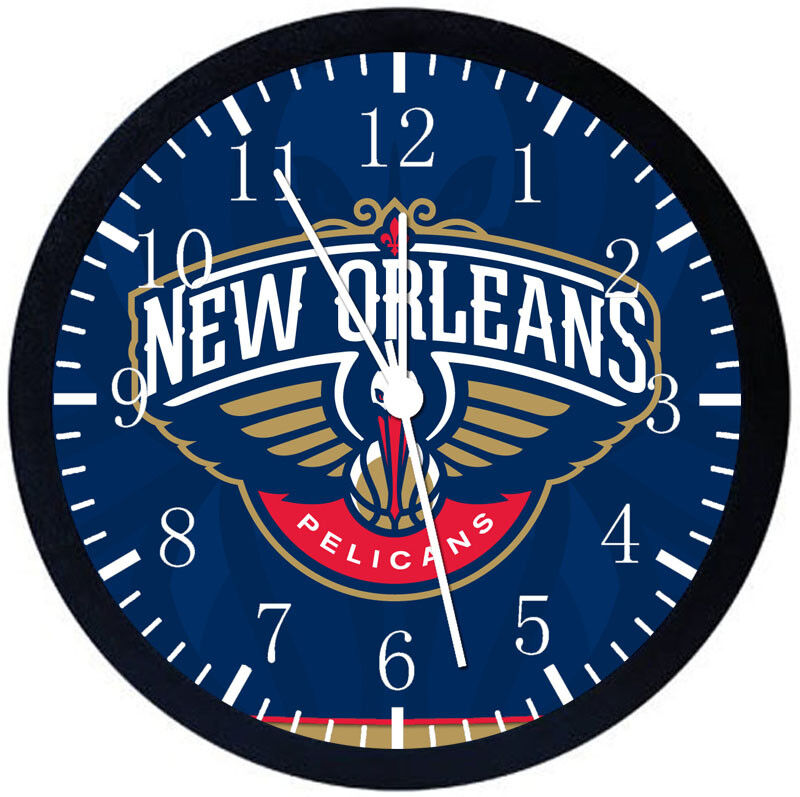 New Orleans Pelicans Black Frame Wall Clock Nice For Decor or Gifts F79
