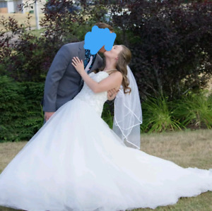 Wedding dress worn once for 1 hour